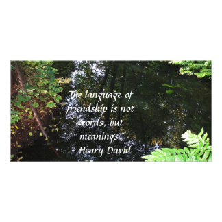 Henry David Thoreau quotation about FRIENDSHIP Photo Greeting Card