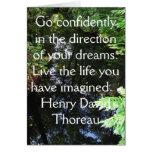 Henry David Thoreau QUOTATION Card