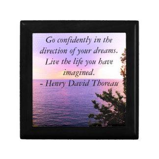 Henry David Thoreau QUOTATION Jewelry Box