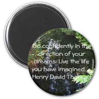 Henry David Thoreau QUOTATION Fridge Magnet