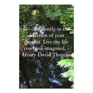 Henry David Thoreau QUOTATION Stationery
