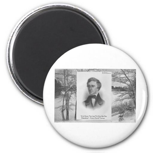 Henry David Thoreau Quote 2 Inch Round Magnet