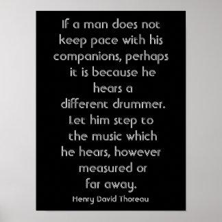 Henry David Thoreau quote - art print