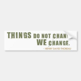 Henry David Thoreau Quote Bumper Sticker
