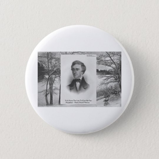 Henry David Thoreau Quote Button