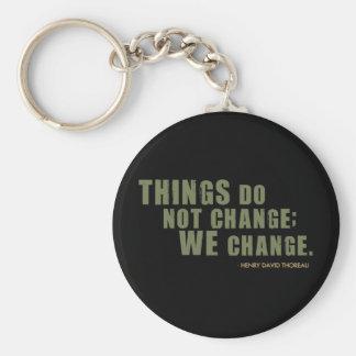 Henry David Thoreau Quote Keychains