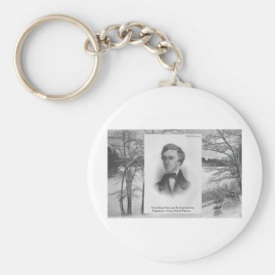 Henry David Thoreau Quote Keychain