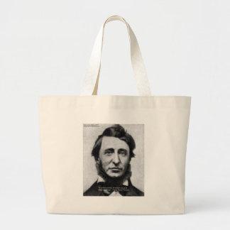 Henry David Thoreau Quote Large Tote Bag