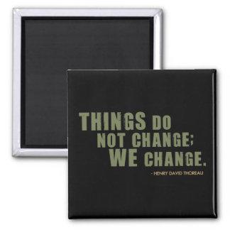 Henry David Thoreau Quote Fridge Magnets