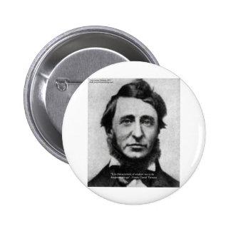 Henry David Thoreau Quote Pinback Button