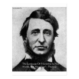 Henry David Thoreau Quote Postcard