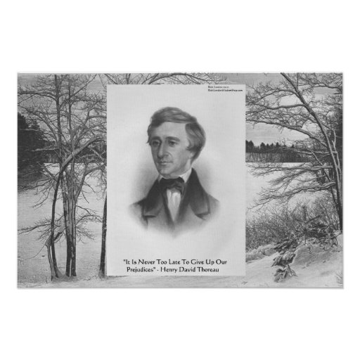 Henry David Thoreau Quote Posters