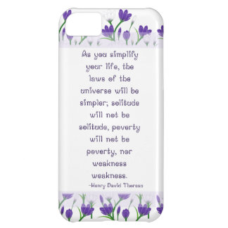 Henry David Thoreau Quote- Spring Crocus Flowers Cover For iPhone 5C