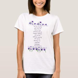 Henry David Thoreau Quote-  Spring Crocus Flowers T-Shirt