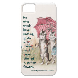 Henry David Thoreau Quote - Thorns and Flowers iPhone SE/5/5s Case