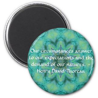 Henry David Thoreau quote with Primitive Design Magnet
