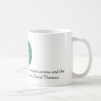 Henry David Thoreau quote with Primitive Design Coffee Mug