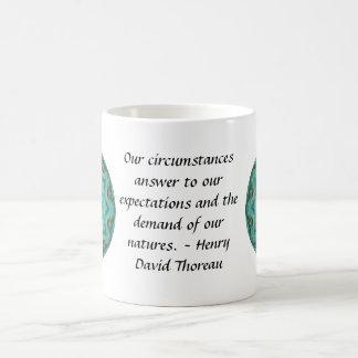 Henry David Thoreau quote with Primitive Design Mug