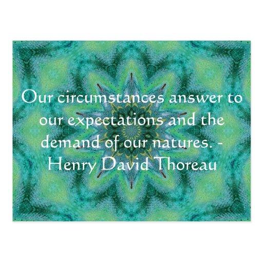 Henry David Thoreau quote with Primitive Design Postcard