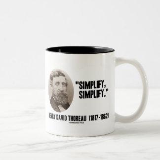 Henry David Thoreau Simplify Simplify Quote Two-Tone Coffee Mug