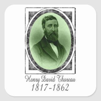 Henry David Thoreau Square Sticker