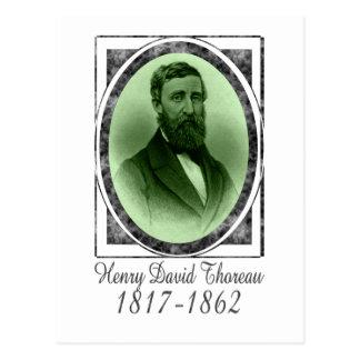 Henry David Thoreau Tarjeta Postal