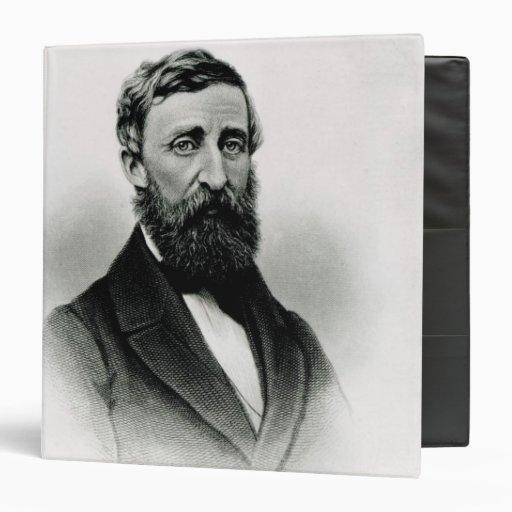 Henry David Thoreau Vinyl Binder
