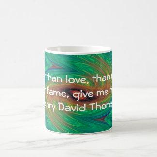 Henry David Thoreau Wisdom Quotation Saying Coffee Mug