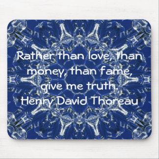 Henry David Thoreau Wisdom Quotation Saying Mouse Pad
