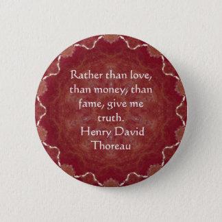 Henry David Thoreau Wisdom Quotation Saying Pinback Button