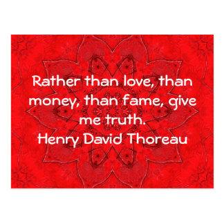 Henry David Thoreau Wisdom Quotation Saying Postcard