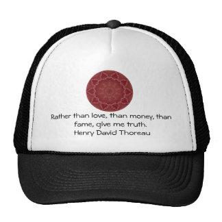 Henry David Thoreau Wisdom Quotation Saying Trucker Hat