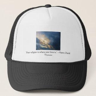 Henry David wisdom quote with wonderful sky Trucker Hat