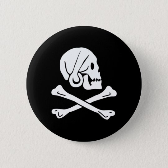 Henry Every authentic pirate flag Pinback Button