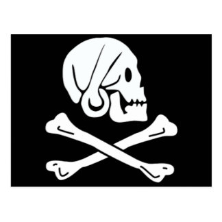 Henry Every authentic pirate flag Postcard