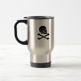 Henry Every black skull travel mug