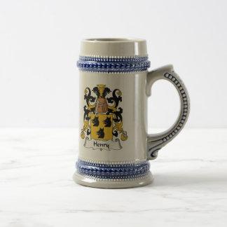 Henry Family Crest Beer Stein