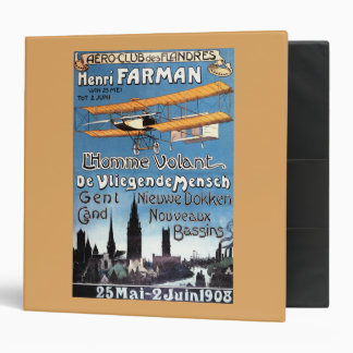 Henry Farman Flies the Flying Man Promo Poster Binder
