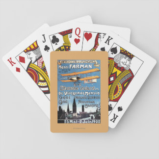 Henry Farman Flies the Flying Man Promo Poster Playing Cards
