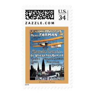 Henry Farman Flies the Flying Man Promo Poster Postage