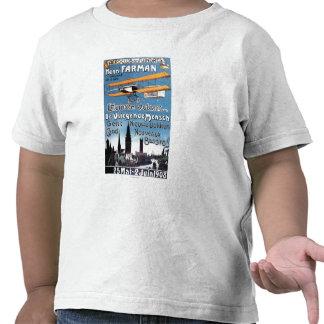 Henry Farman vuela el poster del promo del hombre Camisetas
