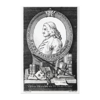 Henry Fielding  at the Age of Forty Eight Canvas Print