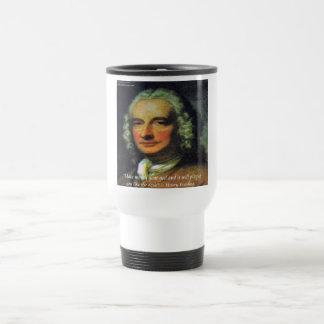 """Henry Fielding """"If Money's Your God"""" Quote Travel Mug"""