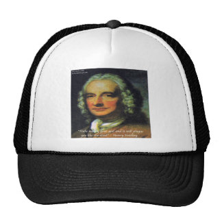 """Henry Fielding """"If Money's Your God"""" Quote Trucker Hat"""