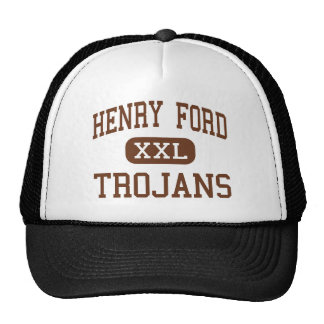 Henry Ford - Trojans - High - Detroit Michigan Trucker Hat