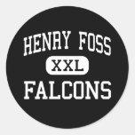 Henry Foss - Falcons - High - Tacoma Washington Round Sticker