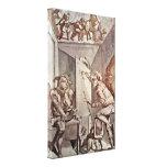 Henry Fuseli - A painter draws a fool Canvas Print