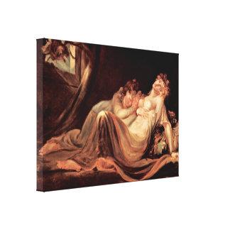 Henry Fuseli - íncubo que sale de mujeres durmient Impresion En Lona