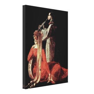 Henry Fuseli - The fairy queen Titania Canvas Print