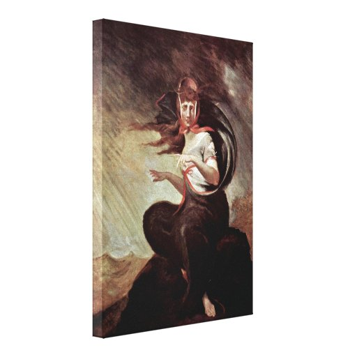 Henry Fuseli - The insane Kate Gallery Wrapped Canvas